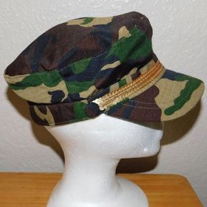 84be422fc3e Accessories - Gold Sequin Embellished Military Army Cadet Cap